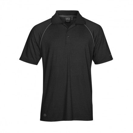 Stormtech-Stormtech Men's Piranha Performance Polo-Black/Granite / 4XL-Corporate Apparel Online - 1