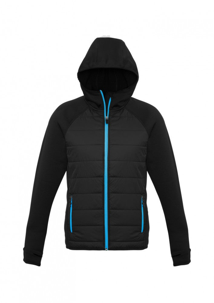 Biz Collection-Biz Collection Mens Stealth Tech Hoodie-Black/Cyan / XL-Corporate Apparel Online - 4