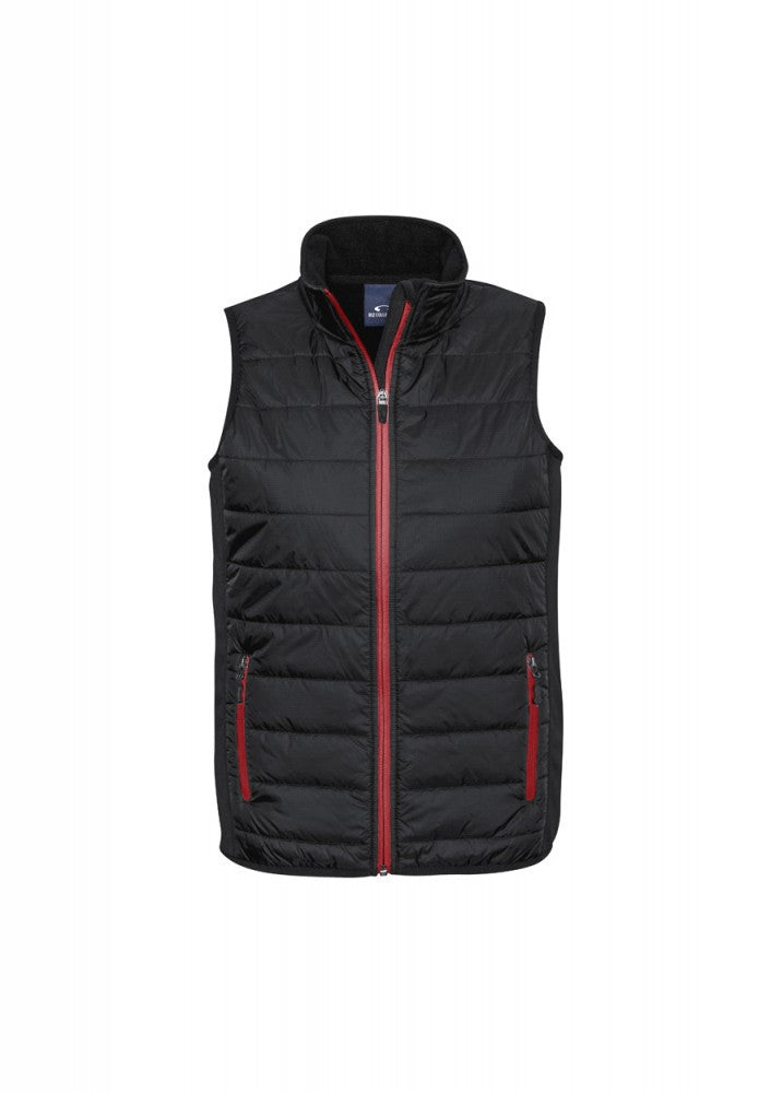 Biz Collection-Biz Collection Stealth Mens Vest-S / BLACK/RED-Corporate Apparel Online - 4