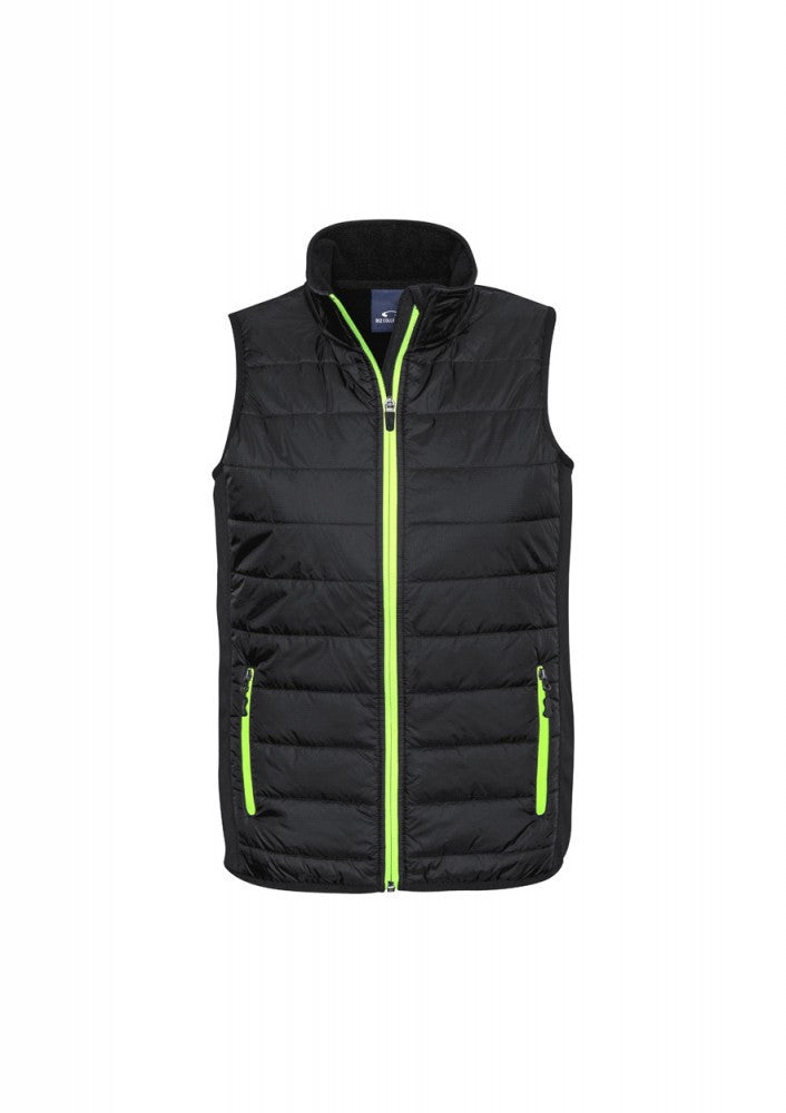 Biz Collection-Biz Collection Stealth Mens Vest-S / BLACK/LIME-Corporate Apparel Online - 3
