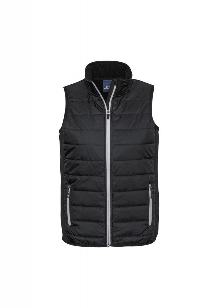 Biz Collection-Biz Collection Stealth Mens Vest-S / BLACK/SILVER GREY-Corporate Apparel Online - 5