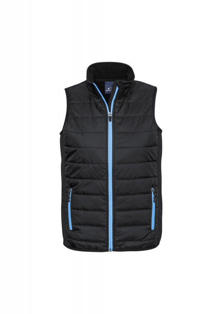 Biz Collection-Biz Collection Stealth Mens Vest-S / BLACK/CYAN-Corporate Apparel Online - 2