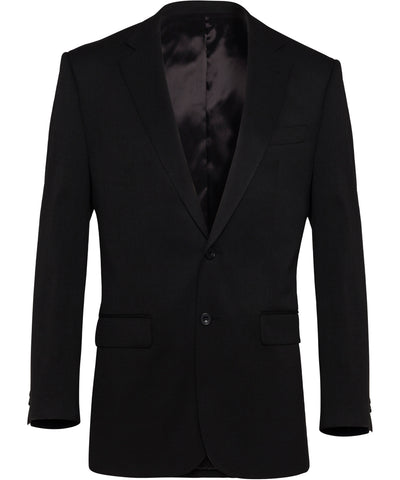 Bracks-Bracks Single Breasted Two Button Plain Twill Bravks Jacket-100 / BLACK-Corporate Apparel Online