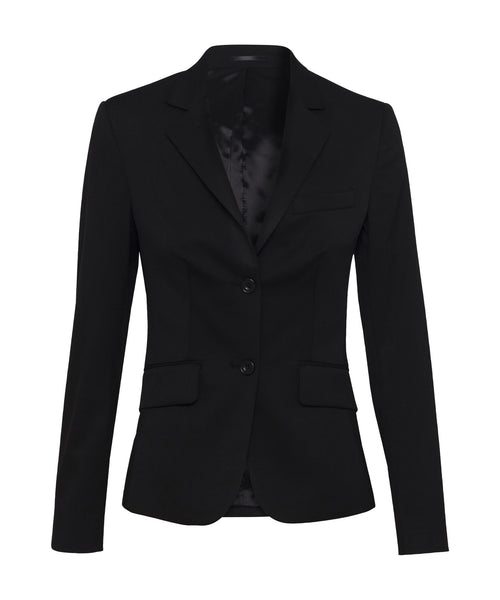 Bracks Womens Sinlge Breasted Two Button Plain Twill Bracks Jacket (JKTW124)