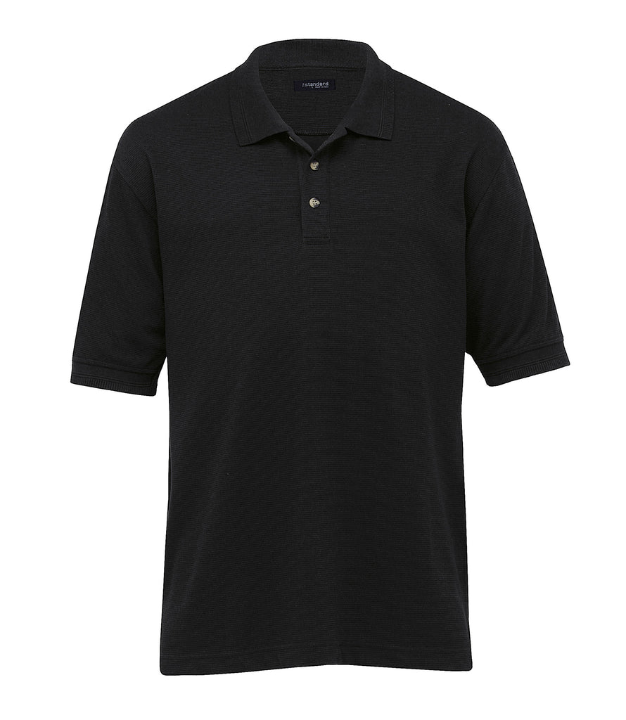 Gear For Life-Gear For Life Mens Jacquard Ottoman Balmoral Polo-Black / S-Corporate Apparel Online - 5