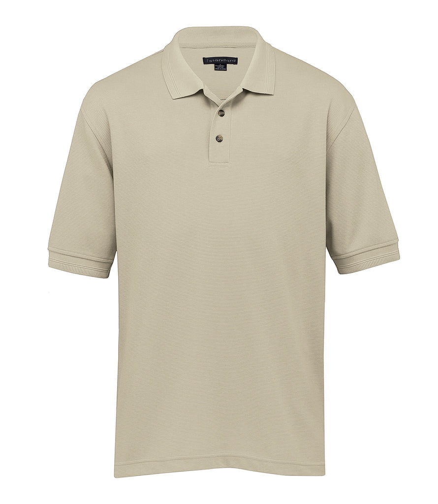Gear For Life-Gear For Life Mens Jacquard Ottoman Balmoral Polo-Stone / S-Corporate Apparel Online - 9