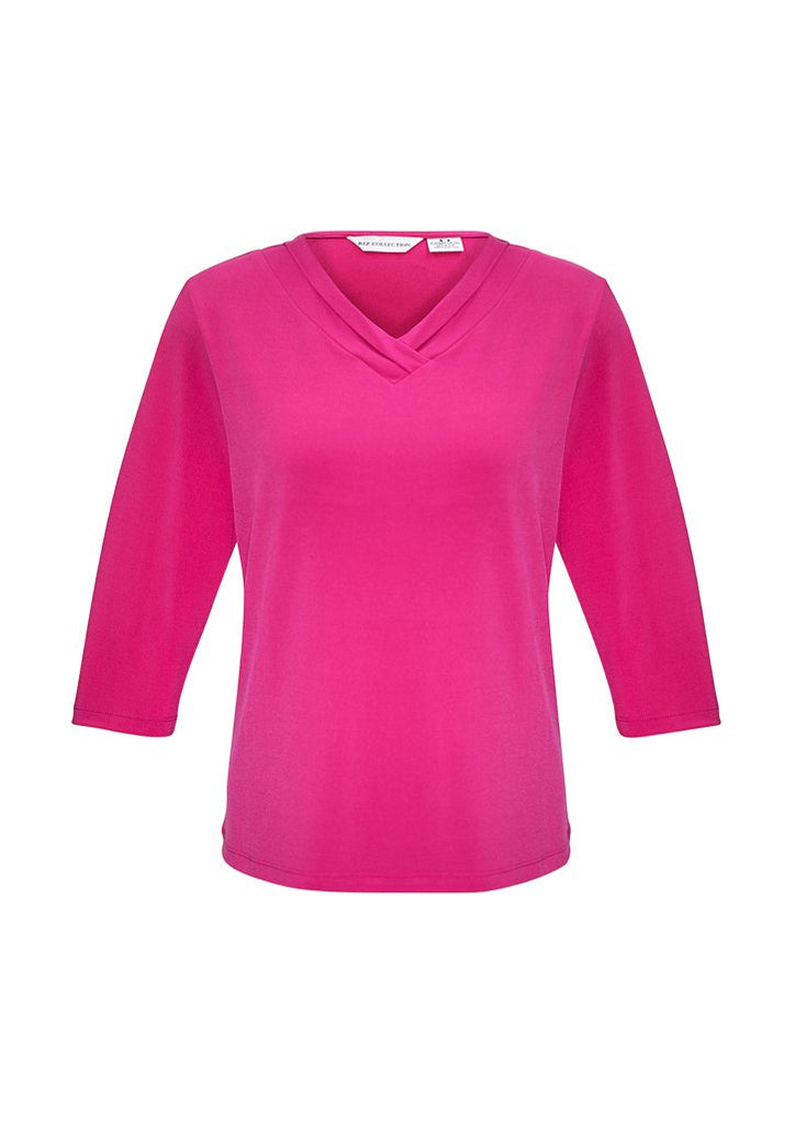 Biz Collection Ladies Lana 3/4 Sleeve Top-(K819LT)