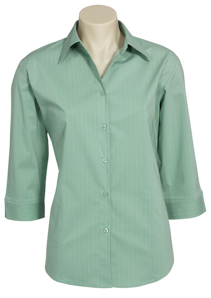 Biz Collection Ladies Manhattan 3/4 Sleeve Shirt (LB8425)