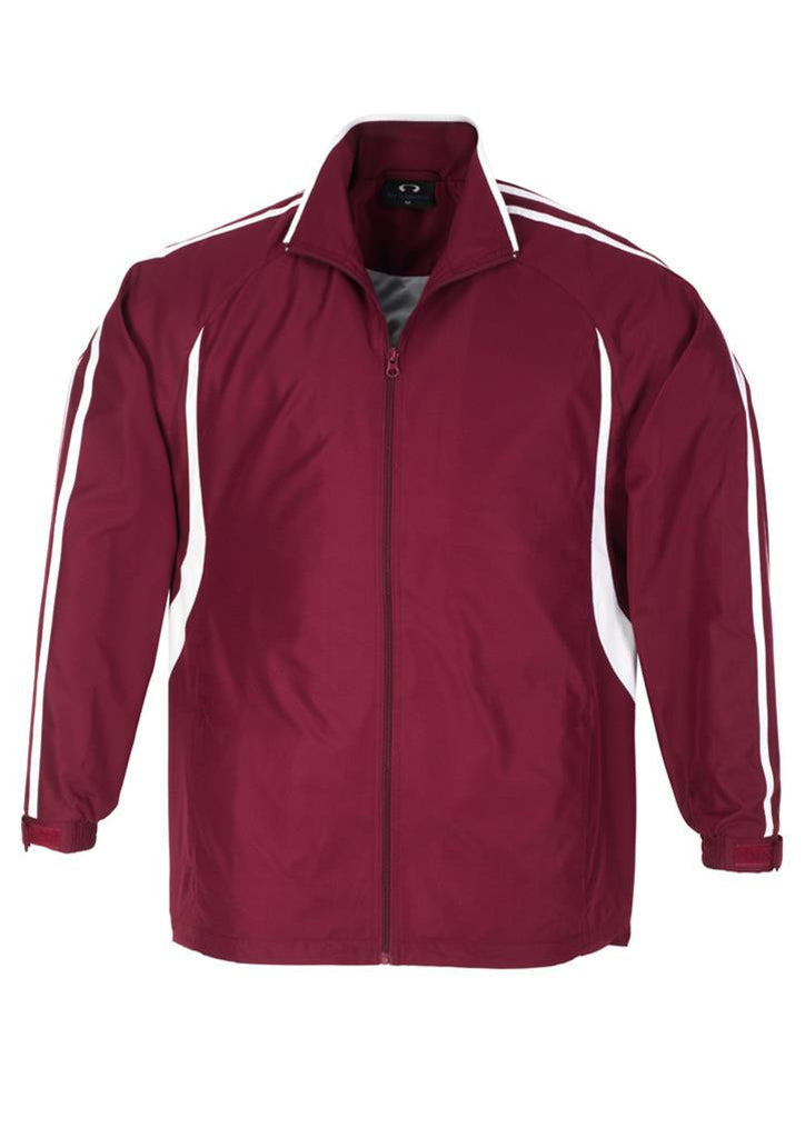 Biz Collection-Biz Collection Kids Flash Track Top-Maroon / White / 6-Corporate Apparel Online - 8