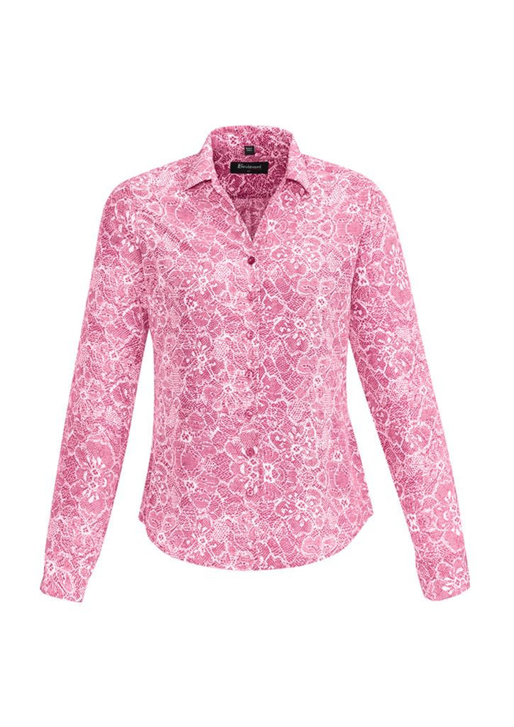 Biz Corporates-Biz Corporates Solanda Ladies Print Long Sleeve Shirt-Melon / 4-Corporate Apparel Online - 8