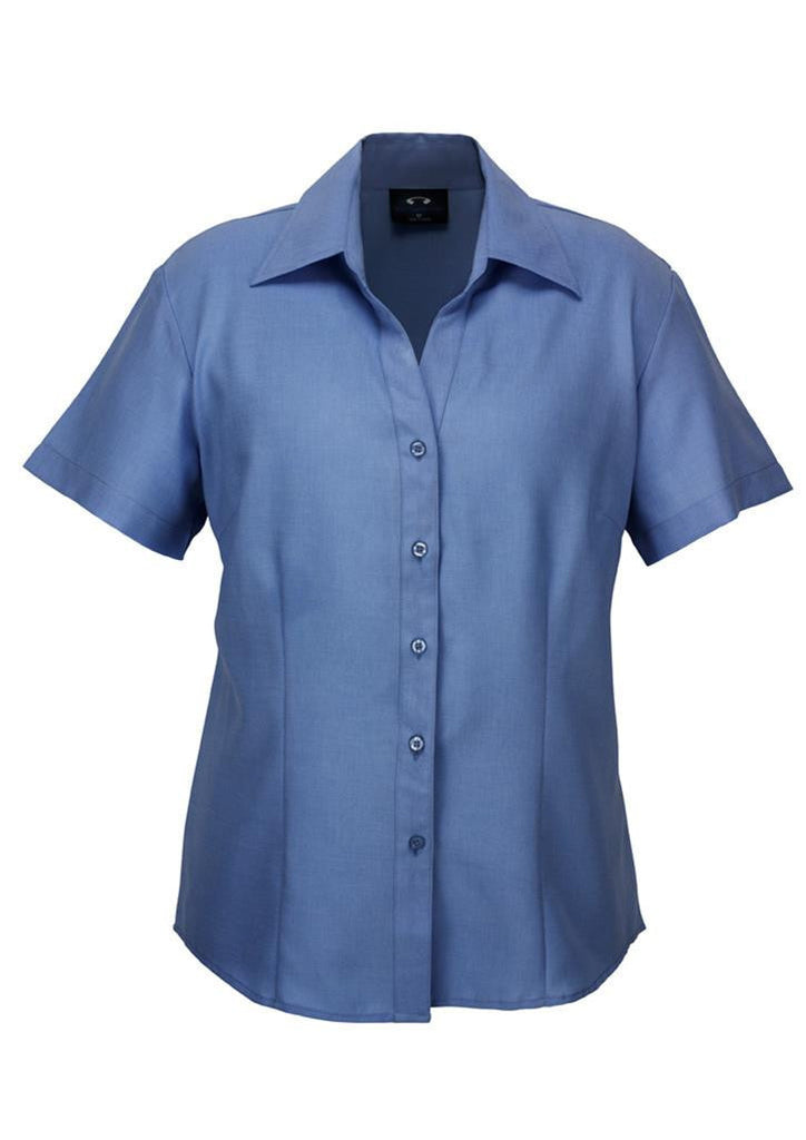 Biz Collection-Biz Collection Ladies Plain Oasis Shirt-S/S-Mid Blue / 6-Corporate Apparel Online - 8