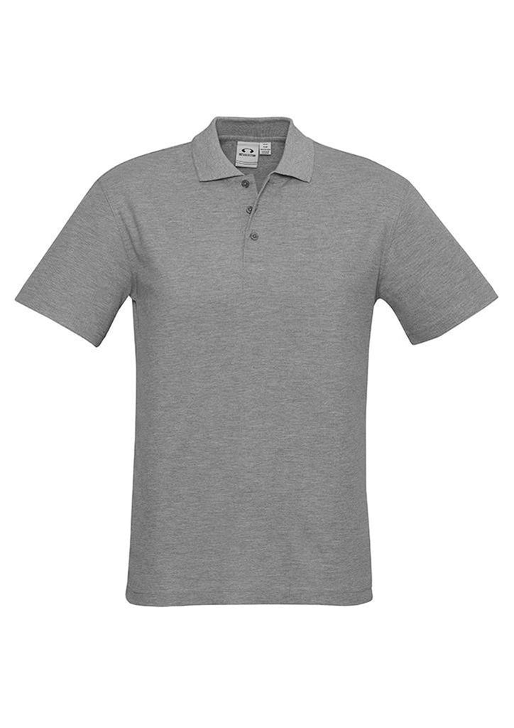 Biz Collection-Biz Collection Mens Crew Polo(1st 10 colours)-Grey Marle / S-Corporate Apparel Online - 9