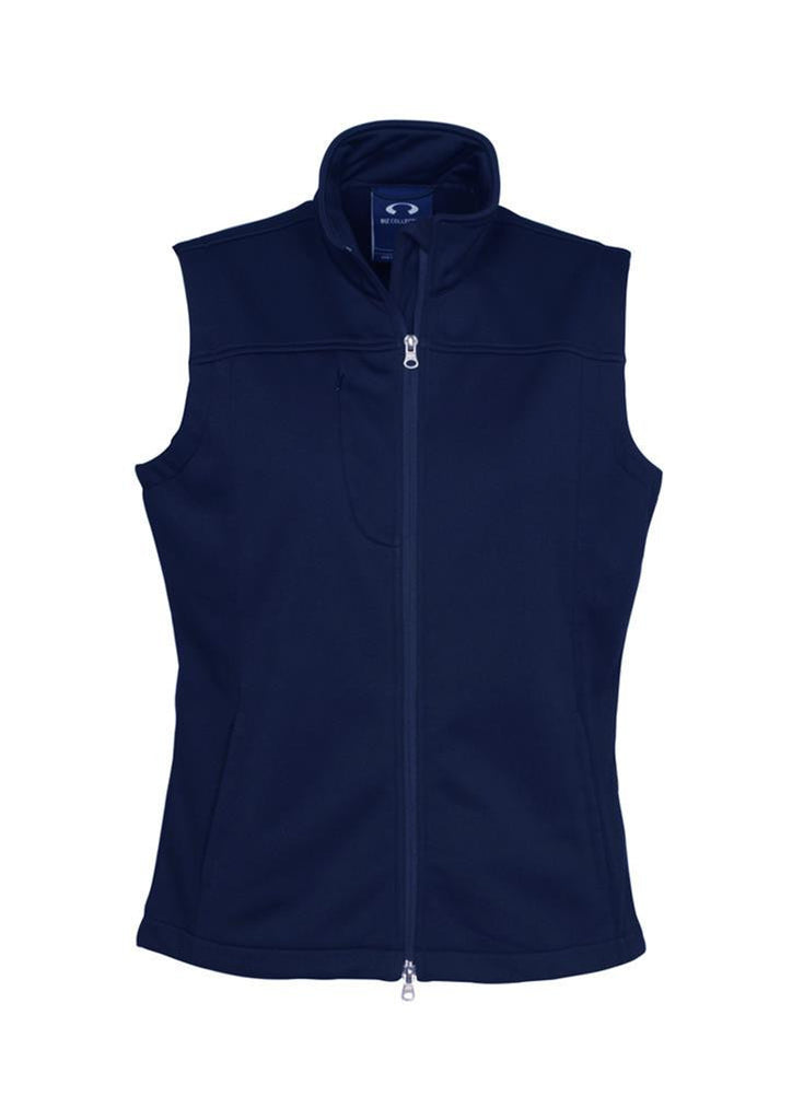 Biz Collection-Biz Collection Ladies Soft Shell Vest-Navy / S-Corporate Apparel Online - 3