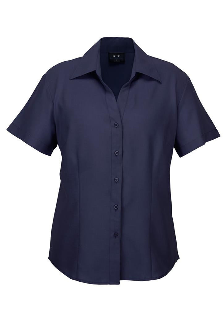 Biz Collection-Biz Collection Ladies Plain Oasis Shirt-S/S-Navy / 6-Corporate Apparel Online - 1