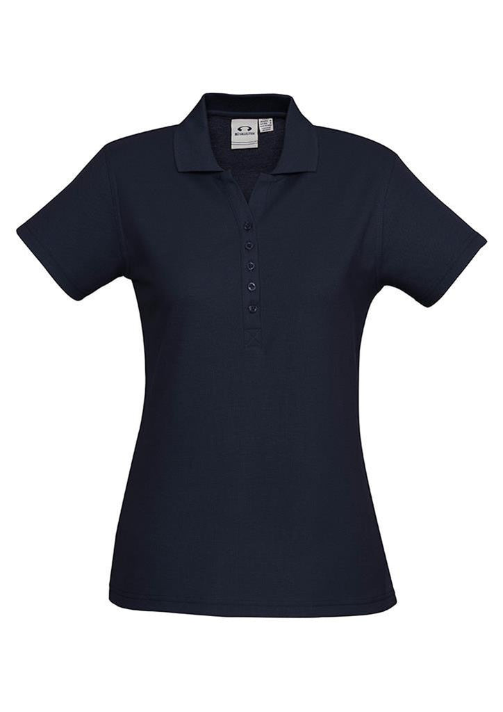 Biz Collection-Biz Collection Ladies Crew Polo(1st 10 Colours)-Navy / 8-Corporate Apparel Online - 4