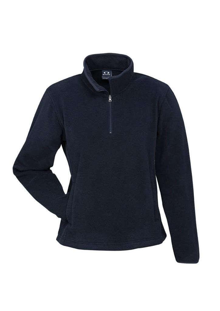 Biz Collection-Biz Collection Ladies Trinity 1/2 Zip Pullover-Navy / S-Corporate Apparel Online - 3