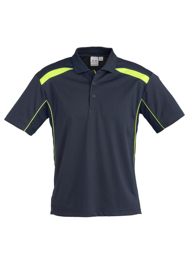 Biz Collection-Biz Collection Mens United Short Sleeve Polo 1st ( 11 Colour )-Navy / Lime / Small-Corporate Apparel Online - 9
