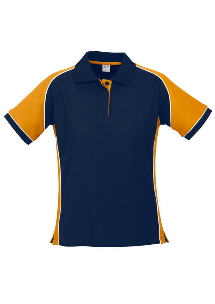 Biz Collection-Biz Collection Ladies Nitro Polo-Navy/Gold/White / 8-Corporate Apparel Online - 9