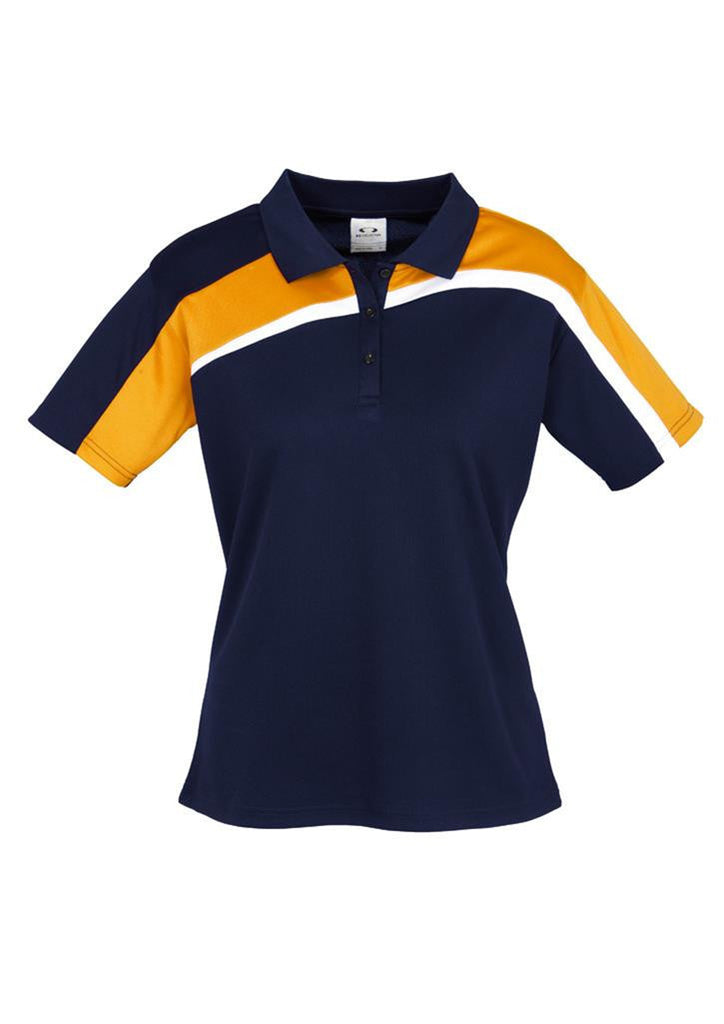 Biz Collection-Biz Collection Ladies Velocity polo-Navy / Gold / White / 8-Corporate Apparel Online - 6