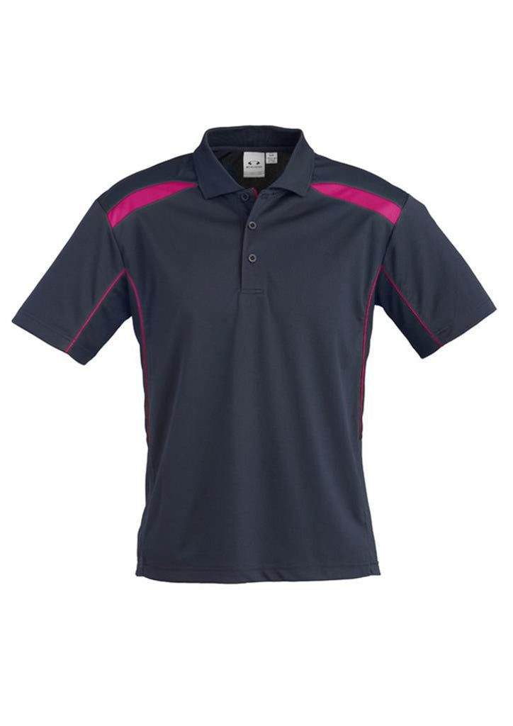 Biz Collection-Biz Collection Mens United Short Sleeve Polo 1st ( 11 Colour )-Navy / Magenta / Small-Corporate Apparel Online - 11