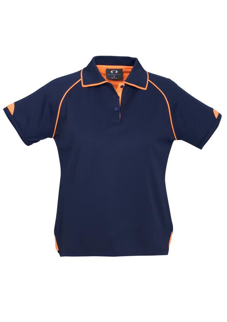 Biz Collection-Biz Collection Ladies Fusion Polo-Navy / Fluro Orange / 8-Corporate Apparel Online - 5