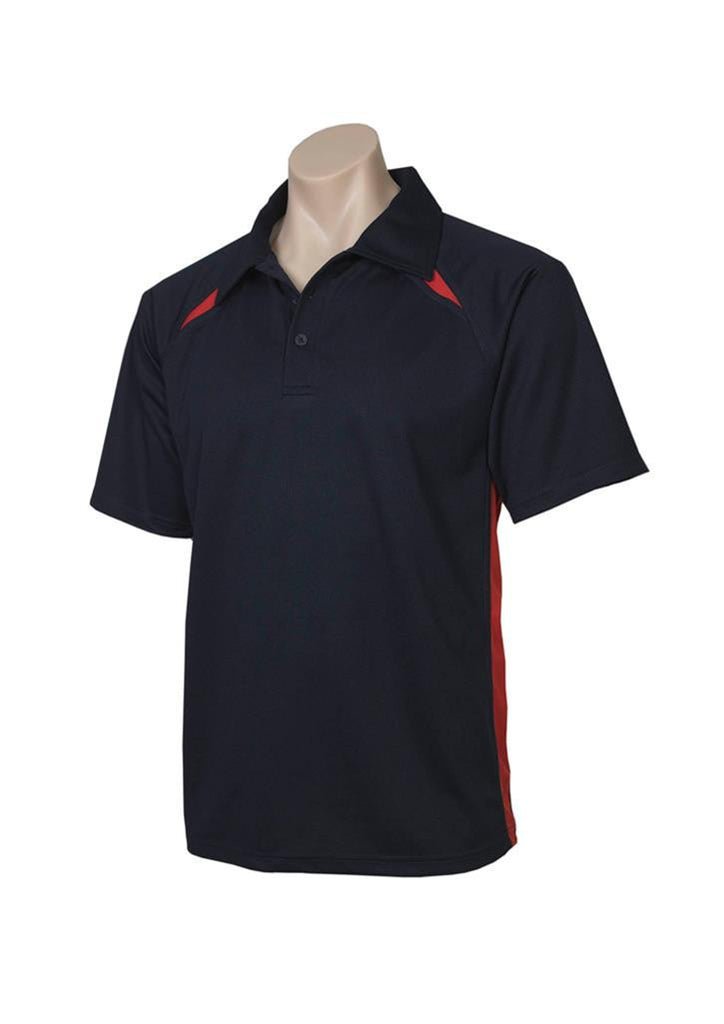 Biz Collection-Biz Collection Mens Splice Polo 2nd ( 5 Colour )-Navy / Red / Small-Corporate Apparel Online - 4