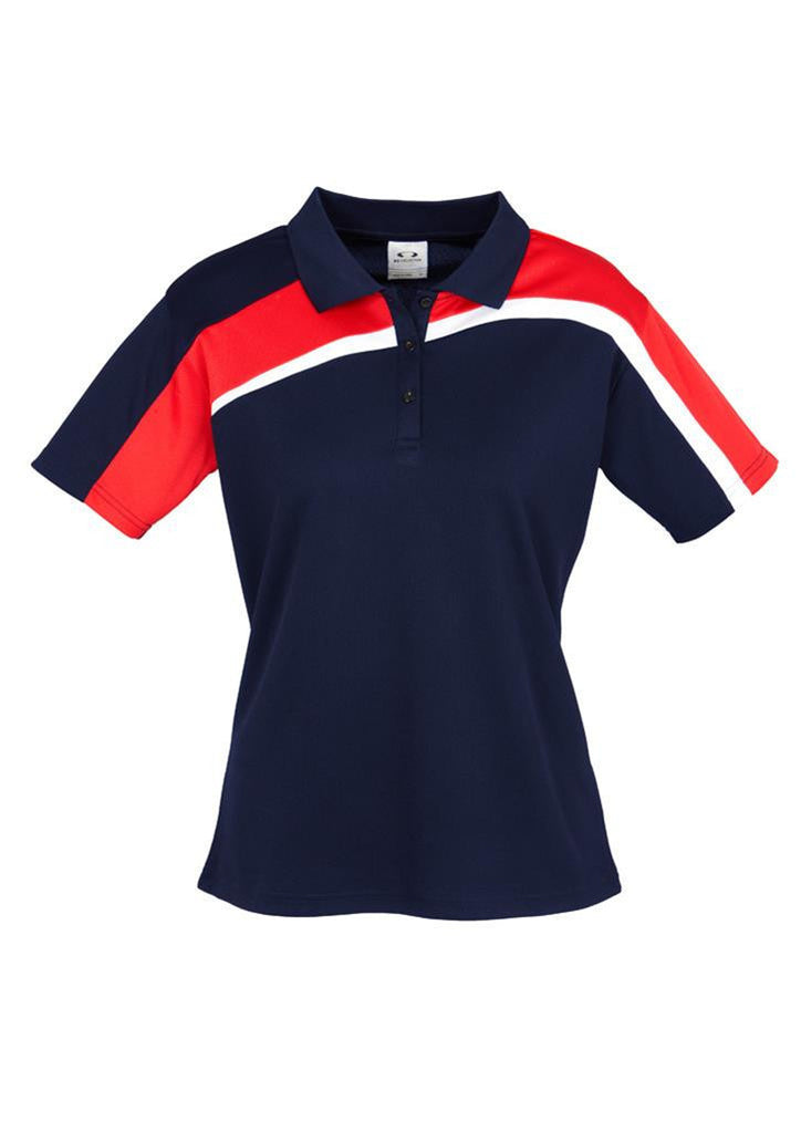 Biz Collection-Biz Collection Ladies Velocity polo-Navy / Red / White / 8-Corporate Apparel Online - 7