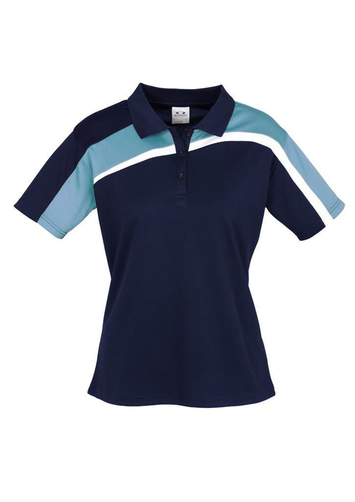 Biz Collection-Biz Collection Ladies Velocity polo-Navy / Spring Blue / White / 8-Corporate Apparel Online - 8