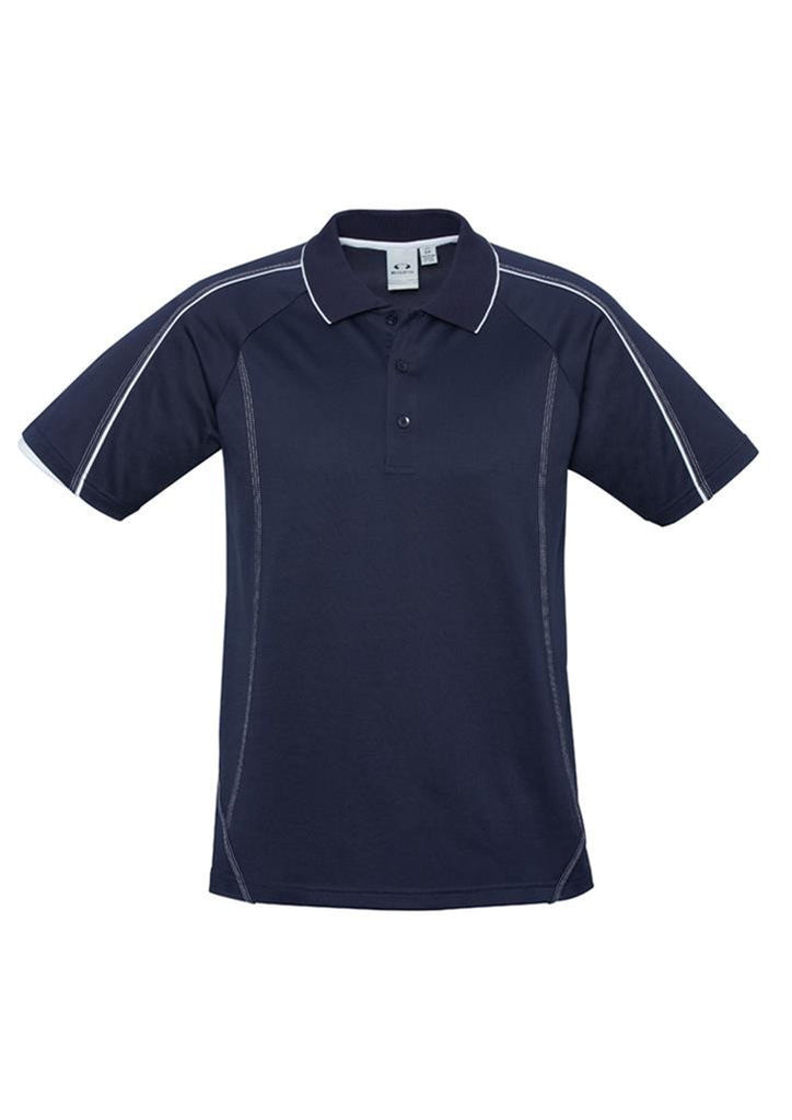 Biz Collection-Biz Collection Mens Blade Polo-Navy / White / S-Corporate Apparel Online - 5