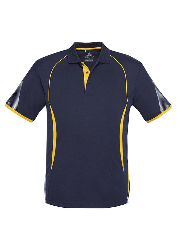 Biz Collection-Biz Collection  Mens Razor Polo-Navy/Gold / S-Corporate Apparel Online - 10