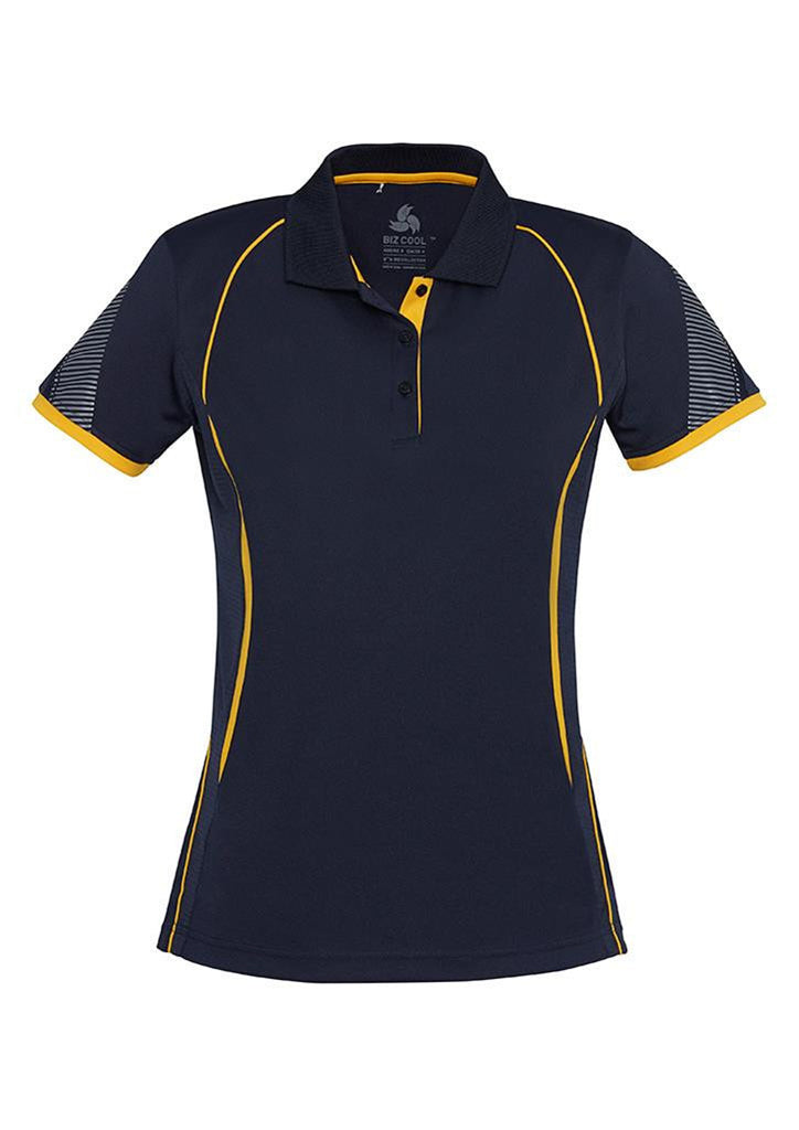 Biz Collection-Biz Collection Ladies Razor Polo-Navy/Gold / 8-Corporate Apparel Online - 8