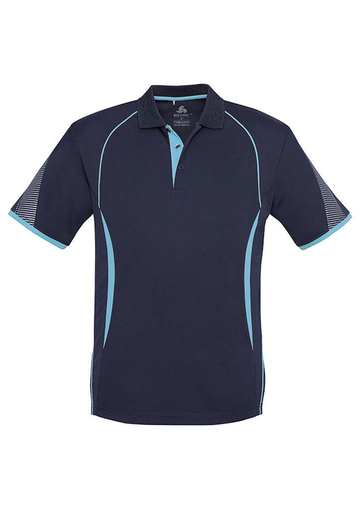 Biz Collection-Biz Collection  Mens Razor Polo-Navy/Sky / S-Corporate Apparel Online - 12