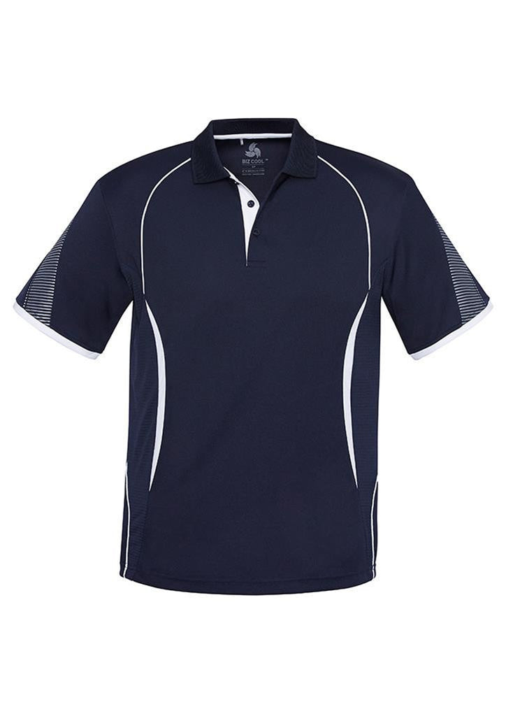 Biz Collection-Biz Collection  Mens Razor Polo-Navy/White / S-Corporate Apparel Online - 8