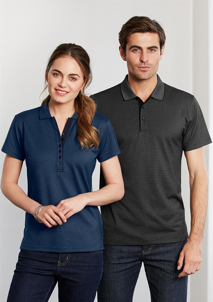 Biz Collection-Biz Collection Ladies Shadow Polo--Corporate Apparel Online - 3