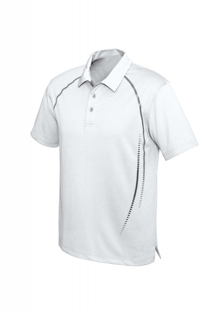 Biz Collection-Biz Collection Mens Cyber Polo-S / WHITE/SILVER-Corporate Apparel Online - 4
