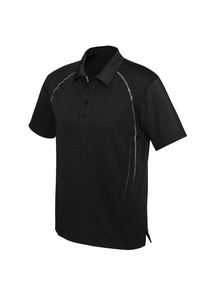 Biz Collection-Biz Collection Mens Cyber Polo-S / BLACK/SILVER-Corporate Apparel Online - 2