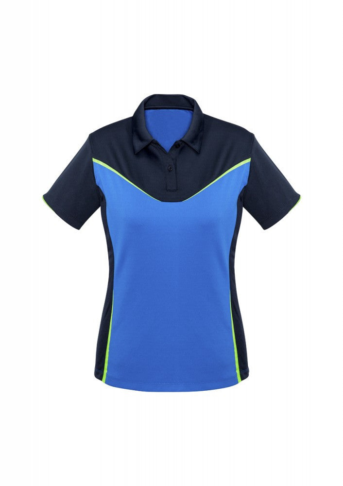 Biz Collection-Biz Collection Ladies Victory Polo-8 / NAVY/ROYAL/FLUORO LIME-Corporate Apparel Online - 4