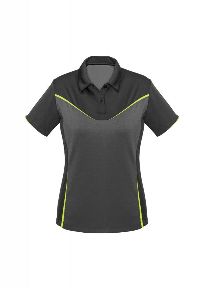 Biz Collection-Biz Collection Ladies Victory Polo-8 / GREY/ASH/FLUORO YELLOW-Corporate Apparel Online - 5