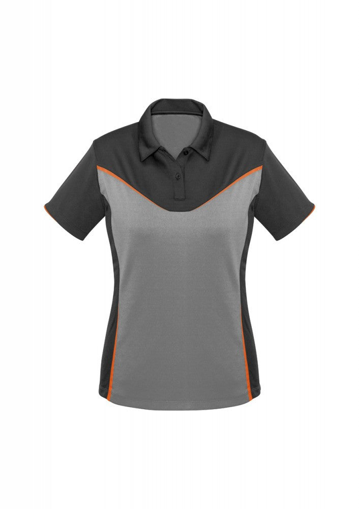 Biz Collection-Biz Collection Ladies Victory Polo-8 / GREY/SILVER/FLUORO ORANGE-Corporate Apparel Online - 6