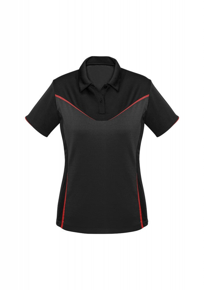 Biz Collection-Biz Collection Ladies Victory Polo-8 / BLACK/GREY/RED-Corporate Apparel Online - 3