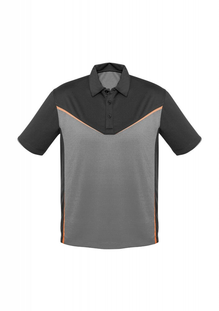 Biz Collection-Biz Collection Mens Victory  Polo-S / GREY/SILVER/FLUORO ORANG-Corporate Apparel Online - 6