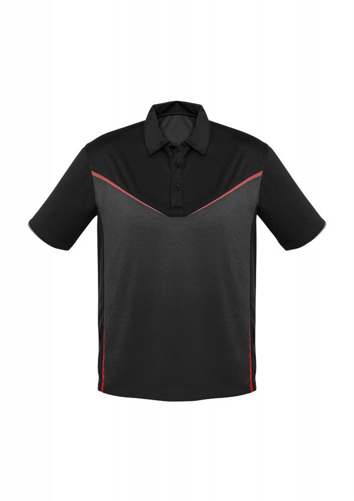 Biz Collection-Biz Collection Mens Victory  Polo-S / BLACK/GREY/RED-Corporate Apparel Online - 4