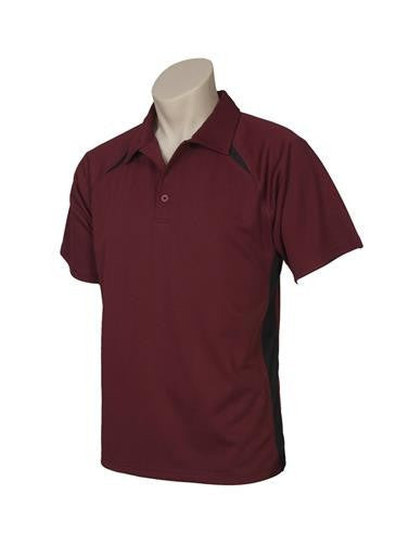 Biz Collection-Biz Collection Kids Bizcool Splice Polo-MAROON/BLACK / 4-Corporate Apparel Online - 3