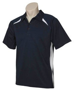 Biz Collection-Biz Collection Kids Bizcool Splice Polo-NAVY/WHITE / 4-Corporate Apparel Online - 8