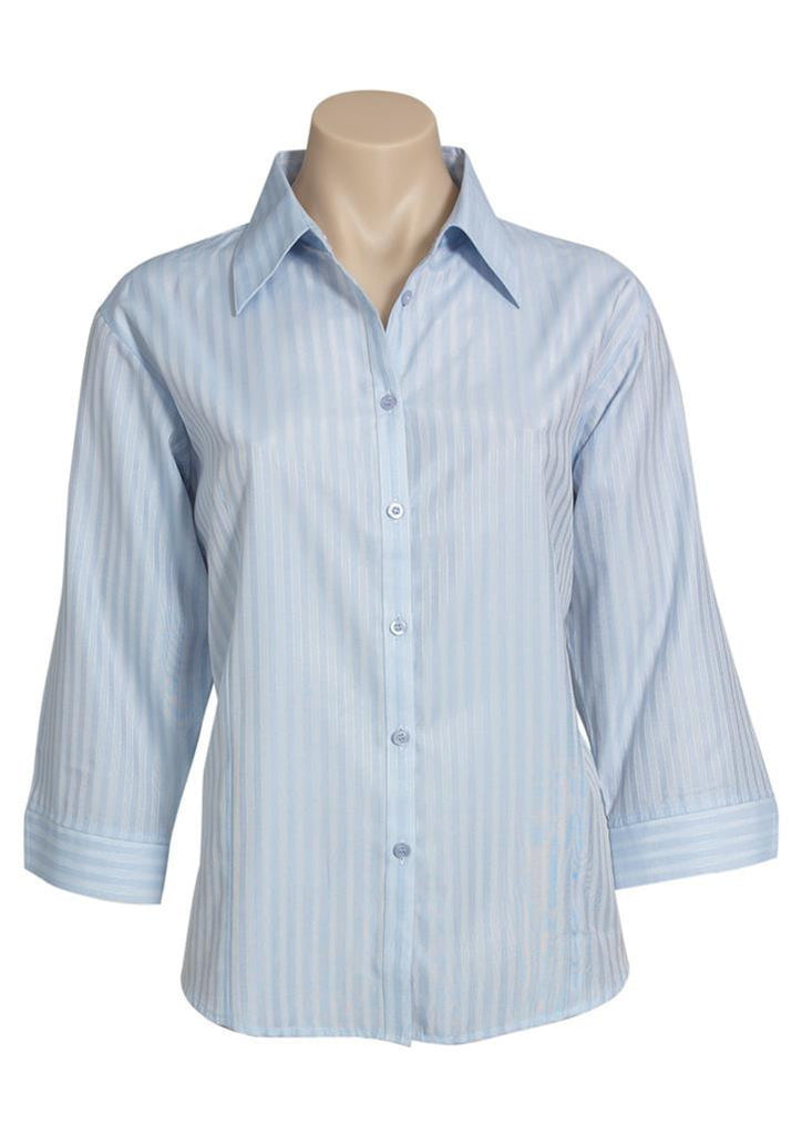 Biz Collection-Biz Collection Ladies Boston 3/4 Sleeve Shirt-Pale Blue / 6-Corporate Apparel Online - 2