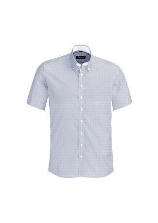 Biz Corporates-Biz Corporates Fifth Avenue Mens Short Sleeve Shirt-Patriot Blue / XS-Corporate Apparel Online - 8