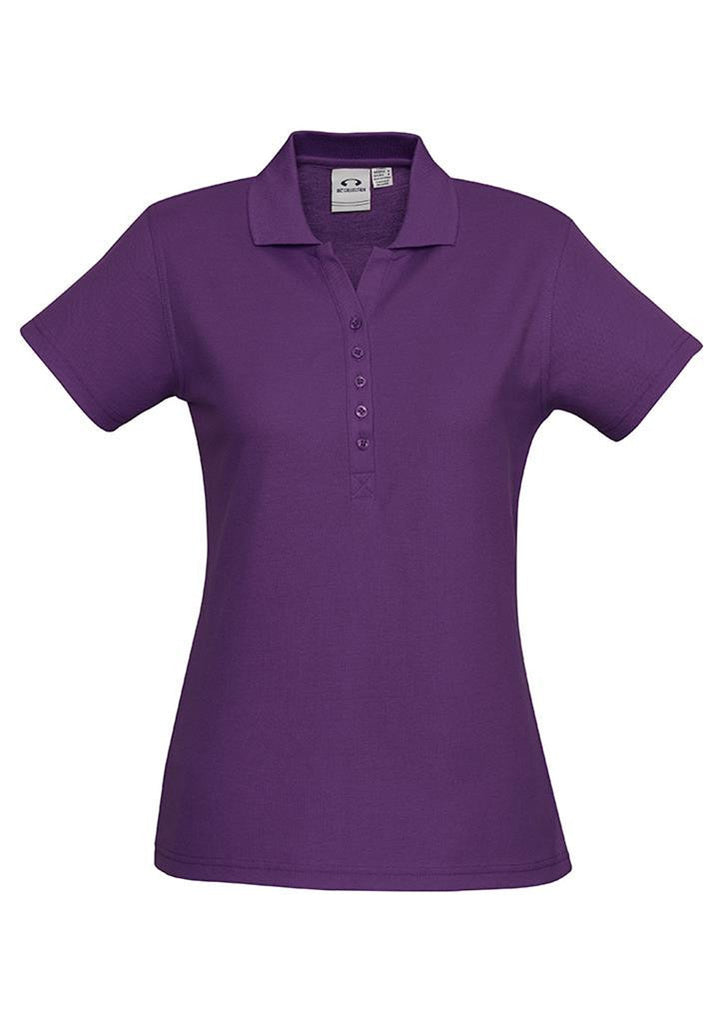 Biz Collection-Biz Collection Ladies Crew Polo(1st 10 Colours)-Purple / 8-Corporate Apparel Online - 5