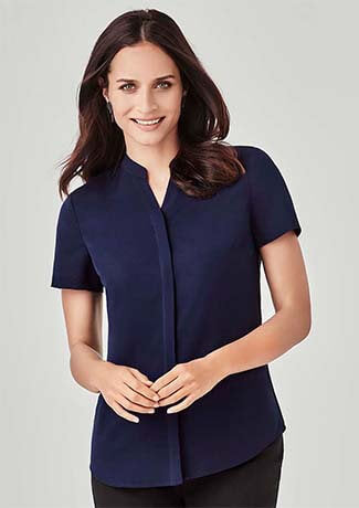 Biz Corporate Womens Juliette S/S Blouse (RB977LS)