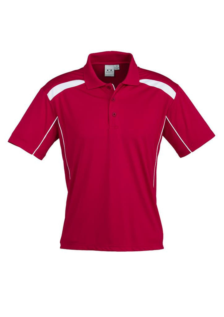 Biz Collection-Biz Collection Mens United Short Sleeve Polo 2nd  ( 10 Colour )-Red / White / Small-Corporate Apparel Online - 2