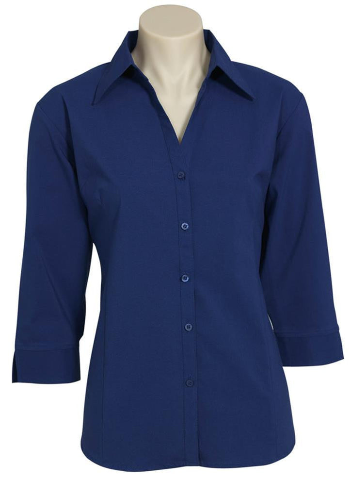 Biz Collection-Biz Collection Ladies Metro Shirt 3/4 Sleeve-Royal / 6-Corporate Apparel Online - 3